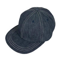 HERRING BONE DENIM 6 PANEL CAP