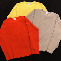 COTTON  BIG  WAFFULE  L/SLEEVE  TEE