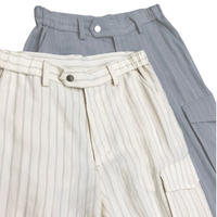 R/N/E HARD TWIST STRIPE TWILL EASY TROUSERS