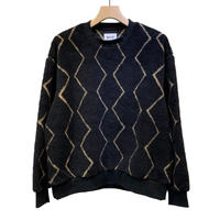 ORIGINAL PATTERN BOA FLEECE PULLOVER TOPS
