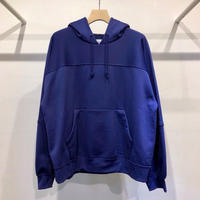 NYLON / COTTON  PILE  PULLOVER  HOODIE