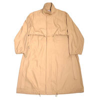 COTTON GABARDINE STAND COLLAR COAT