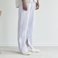 30/10 COTTON PILE SIDE ZIP PANTS