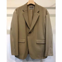 WOOL BACK SATIN TWILL LOOSE TAILORED JACKET