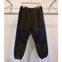 ACRYLIC / COTTON  BOA  PILE  EASY COMBI  PANTS