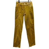 8W STRECH CORDUROY SENTER SLIT CUTOFF 5P PANTS