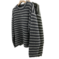 KID MOHAIR BLEND CREW NECK RIB KNIT (STRIPE)