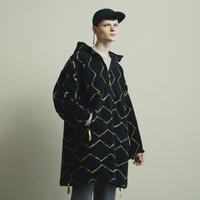 ORIGINAL PATTERN BOA FLEECE HALF ZIP HOODIE COAT