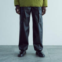 SYNTHETIC LEATHER CARGO PANTS
