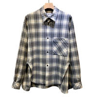 PURE WOOL CHECK OVER SLIT REGULAR SHIRTS