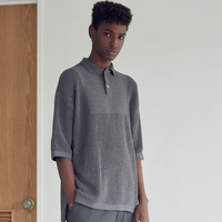 P/C/Li OVERSIZED S/SLEEVE KNIT POLO