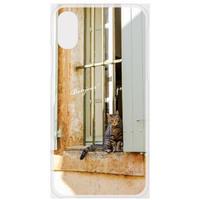 フランスの美しい村のネコ スマホケース【iPhone用】