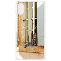 フランスの美しい村のネコ スマホケース【Android系、iPhone Max,Plus系】