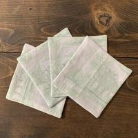 シノワズリ図案のコースター