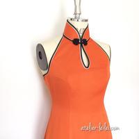 チャイナカラーのマーメイドドレス
