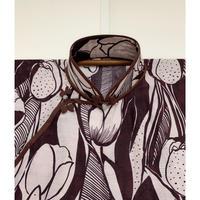 レトロチューリップのロング旗袍