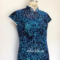 シースルベルベットのチャイナドレス