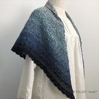 【編み図】松編み模様の簡単三角ストール(ダウンロード版)