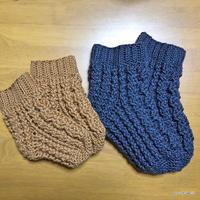 【編み図】かぎ針編みアラン模様のルームソックス・2サイズ(ダウンロード版)