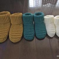 畝編みのルームシューズ(3サイズ)