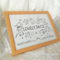 ★ダウンロード★刺繍図案 LOVELY DAY'S