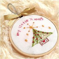 クリスマスシーズン限定刺繍「my little  x'mas」