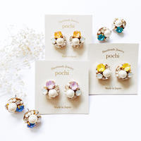 ★2020 S/S NEW COLOR★SWAROVSKI®・Crystals Bijoux Pierce - Round -