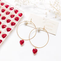 【14kgf】Heart×Pearl Hoop Pierce