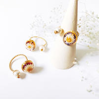 Herbarium Ring - Oval × Pearl-