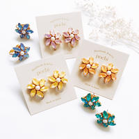 ★2020 S/S NEW COLOR★Crystal Flower Pierce