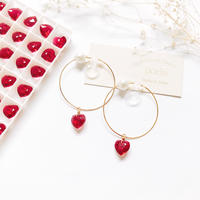 Heart×Pearl Hoop Earrings