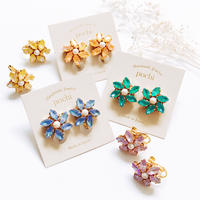 ★2020 S/S NEW COLOR★Crystal Flower Earrings