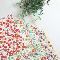 野菜とお花のつぎはぎデザインペーパー♡折り紙サイズ