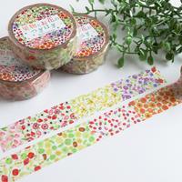 果物とお花のつぎはぎ☆マスキングテープ
