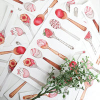 Strawberry Spoon☆ミシン目付きスティックメモ