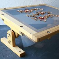 エディ刺繍台セット(A4サイズ刺繍枠と傾斜式スタンドのセット)