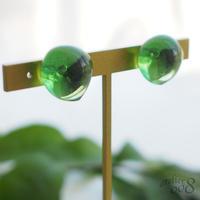 【送料無料】ガラスの粒イヤリング(マスカット)