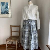 サフラワースカート コットン ミュルーズプリント ②色