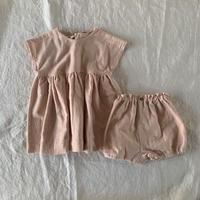 花かごドレスセット コットンダブルガーゼ 優しいピンク