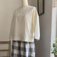 クロスTシャツ7分袖     コットン キナリ