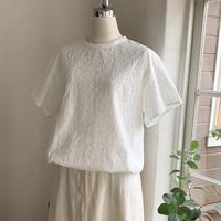 クラウドシャツ半袖コットン  しゅうオフホワイト