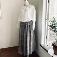 茉莉花スカート コットンシャギー ギンガムチェック ブラック