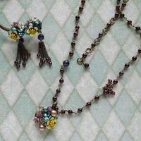 ネックレス&ピアスセット プチフルールPetites fleurs np-2501