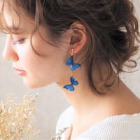 Ocean Blue Butterfly Earrings [Pierced Or Clip-on]