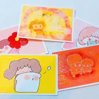 ポストカード5枚セット①「ポカポカ」