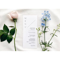 メニュー表|Natural & Garden     Wedding menus | 10枚1セット