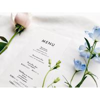 メニュー表 |トレーシングペーパー‖Wedding menus 10枚1セット