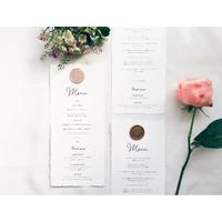メニュー表|edge  paper|Wax Seals |ワックスシール付 10枚1セット(カード専用ページ)