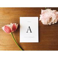 テーブルナンバー|セリフ体|カード 16枚セット