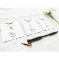 席札|エスコートカード‖ square|Wedding name card 10枚1セット